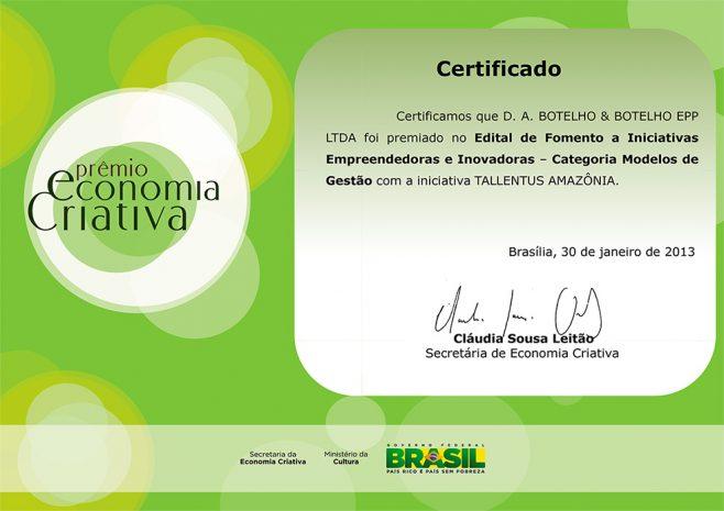 Prêmio Brasil Criativo 2013